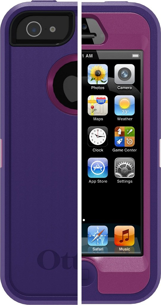 best loved 95481 9843b OtterBox Defender Series Case for iPhone 5 (Discontinued by Manufacturer)(  Not for iPhone 5C or 5S) Retail Packaging Boom Purple