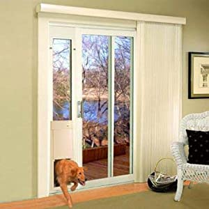 amazon com high tech pet large power pet sliding glass door