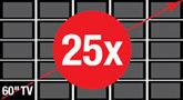 25x Larger