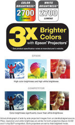 3x Brighter Colors with Epson