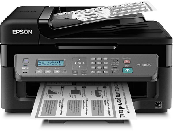 Epson workforce wf m1560 wireless monochrome for Color laser printer vs inkjet cost per page