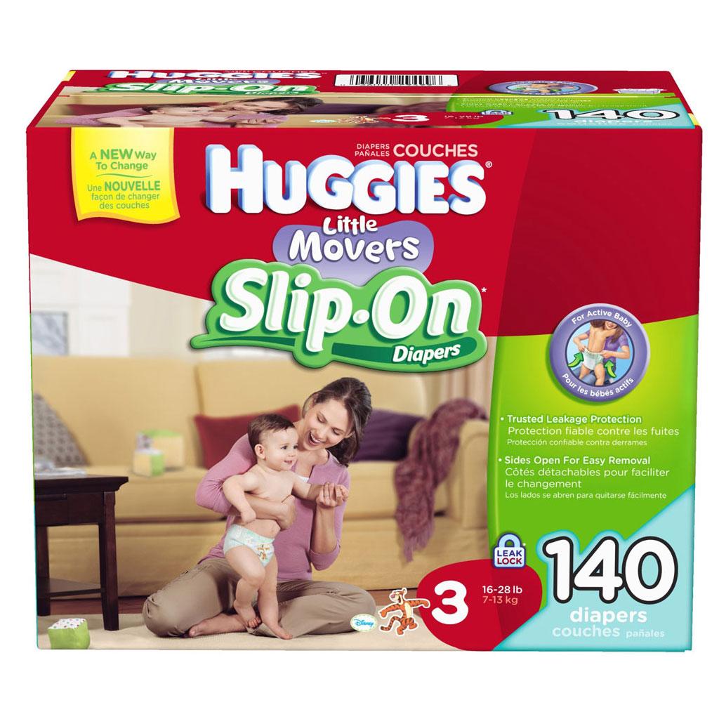 Amazon.com: Huggies Little Movers Slip-On Diapers, Size 3, 140 ...
