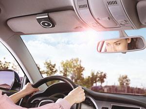 Jabra Tour Bluetooth on Car Visor