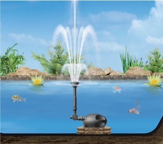 Laguna Powerjet 600 Fountain Waterfall Pump: water pumps for ponds and fountains
