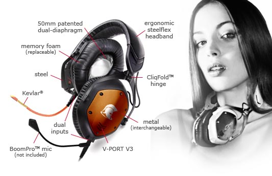 Amazon Com V Moda Crossfade M 100 Over Ear Noise