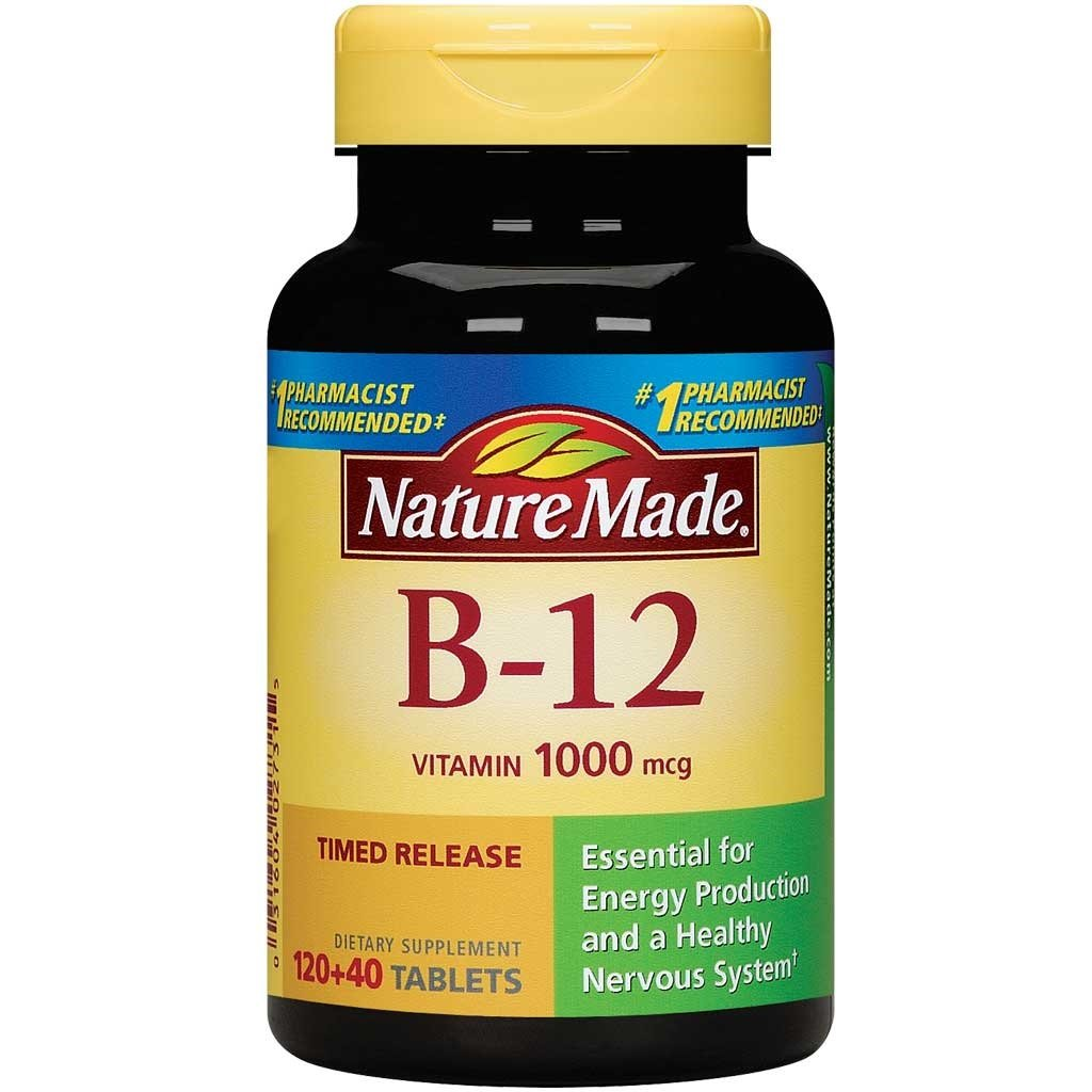 Amazon.com: Nature Made Vitamin B-12 Timed Release Tablets, Value Size, 1000 Mcg, 160 Count