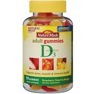 b3769c36f33 Amazon.com  Nature Made Vitamin D3 Adult Gummies (2
