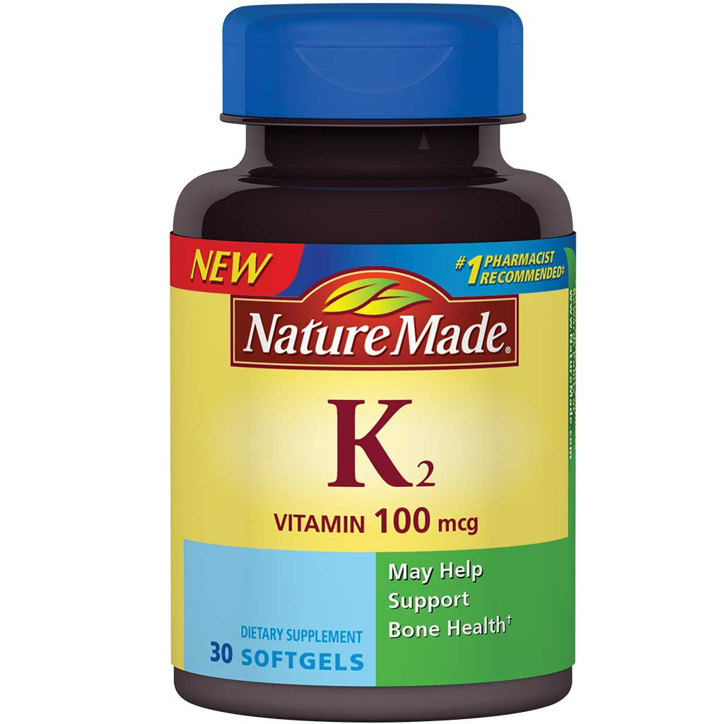 Amazon.com: Nature Made Vitamin K2 100 mcg Softgels 30 Ct: Health & Personal Care