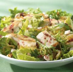 Caramelized onion and chicken with greens