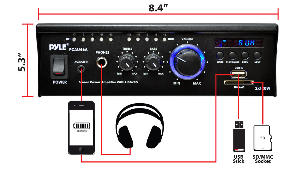 Amazon Com  Home Audio Power Amplifier System