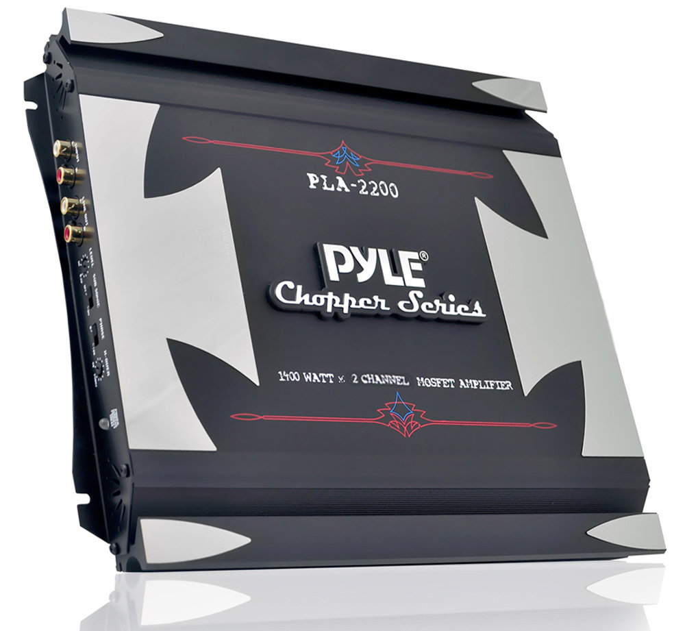 2 Channel Car Stereo Amplifier 1400w Dual 70 Watt Mosfet Pyle Chopper Series Amplifiers View Larger