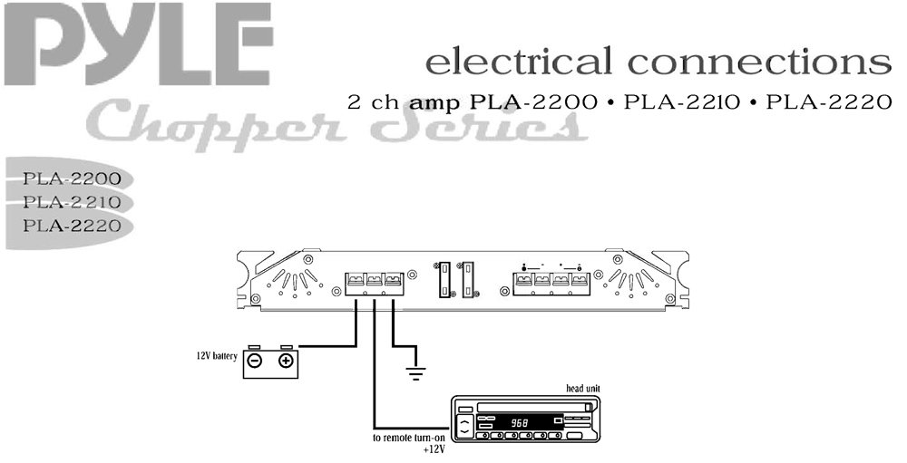 PLA2220_diagram amazon com pyle pla2220 2 channel 2400 watt bridgeable mosfet boss r1100m wiring diagram at edmiracle.co