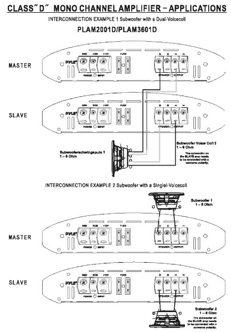 PLAM2001D_diagram amazon com pyle plam2001d class d monoblock power amplifier power acoustik wiring diagrams at panicattacktreatment.co