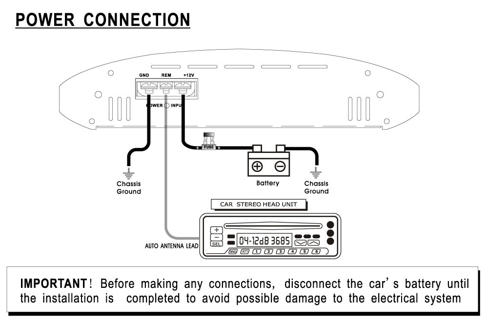 com pyle plam watts channel bridgeable power connection diagram view larger