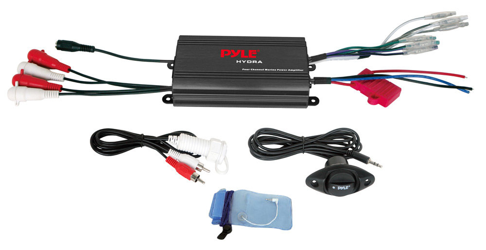 amazon com pyle plmrmp3b 4 channel 800 watt waterproof micro 4 channel waterproof marine amplifier
