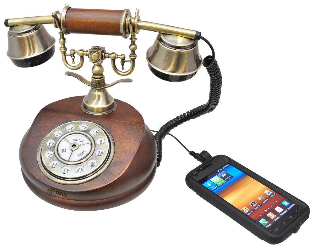 Vintage Style Telephone with Smartphone Compatibility - Amazon.com : Pyle PRT15I Retro Antique Classic Desk Phone 1920