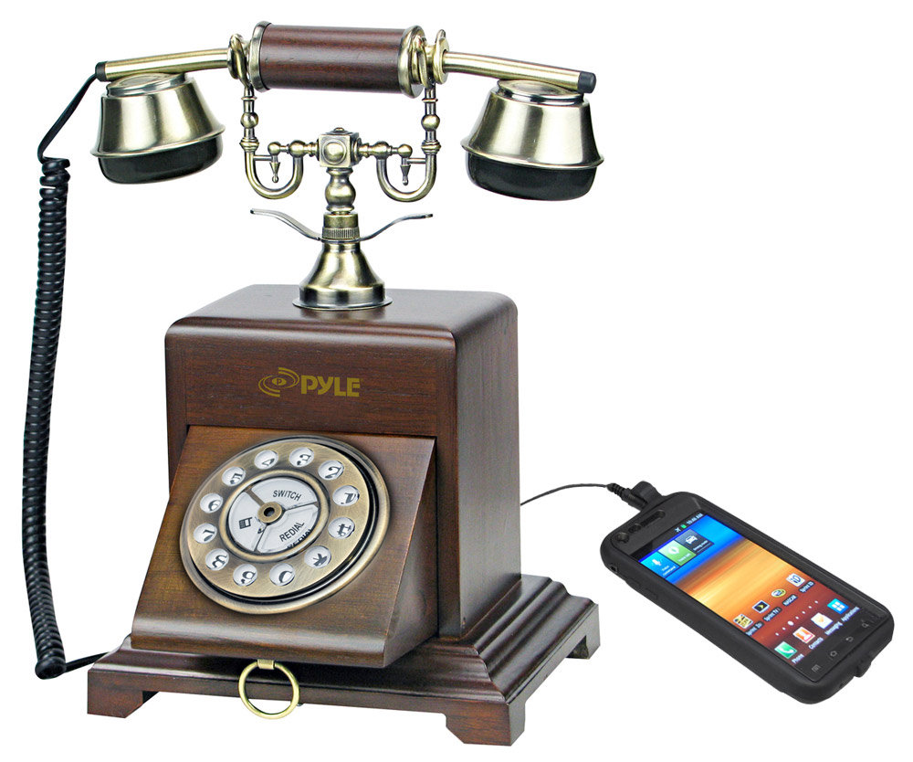 Vintage Style Telephone with Smartphone Compatibility - Amazon.com : Pyle PRT25I Retro Antique Classic Desk Phone : Corded