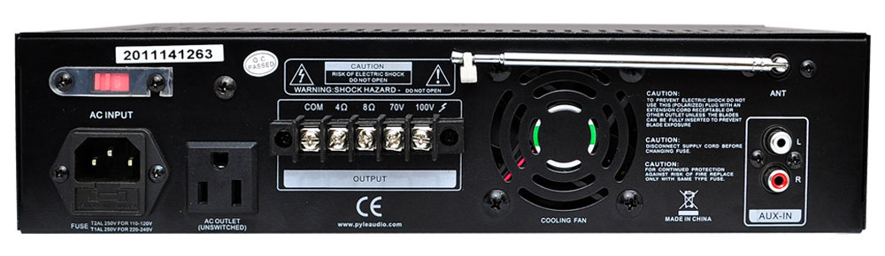 Amazon Com Home Audio Power Amplifier Mixer 240w 5