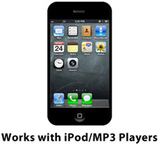 Works with iPod/MP3 Players