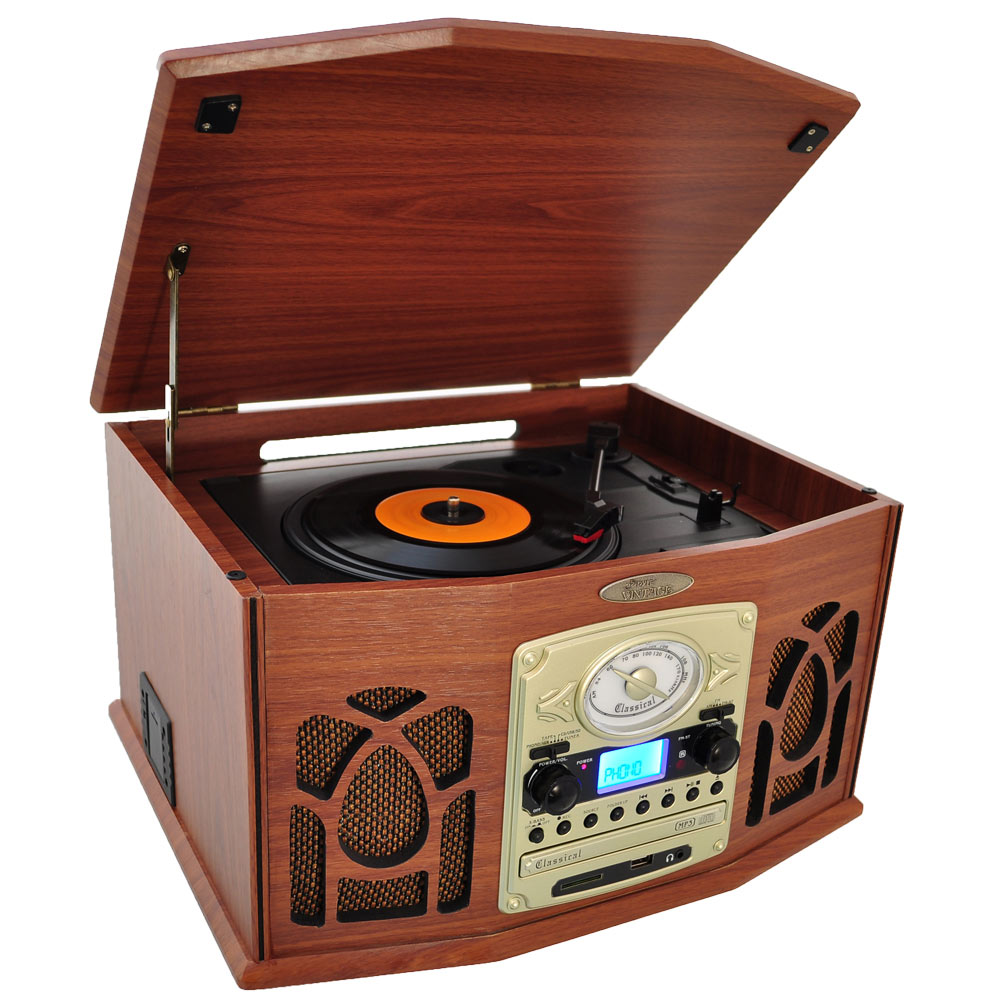 Amazon Com Pyle Home Ptcds7uiw Retro Vintage Turntable