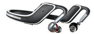 Sideview of flex wireless headphones