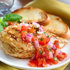 Marinated Chicken Bruschetta