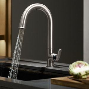 KOHLER KVS Sensate Touchless Kitchen Faucet Vibrant - Touch activated kitchen faucet
