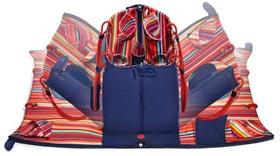 BUILT NY Convertible Insulated Picnic Basket Tote Bag, Navy 5