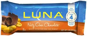 LUNA Bar Nutz Over Chocolate Product Shot