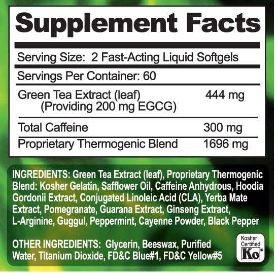 Amazon.com: Green Fusion Fat Burner with 200mg of Powerful ...