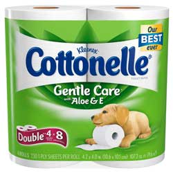 Cottonelle Gentle Care with Aloe & Vitamin E Toilet Paper Product Shot