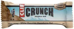 CLIF CRUNCH White Chocolate Macadamia Granola Bar Product Shot