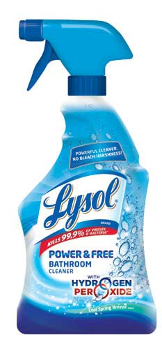 Lysol Bleach Free Hydrogen Peroxide Bathroom Cleaner Spray Fresh 22oz Health