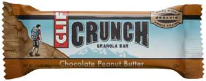 CLIF CRUNCH Chocolate Peanut Butter Granola Bar Product Shot