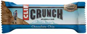 CLIF CRUNCH Chocolate Chip Granola Bar Product Shot