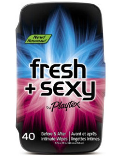 Playtex Fresh + Sexy Intimate Wipes, 40-Count Tub Product Shot