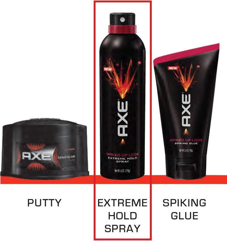 Axe hair gel spiked up look