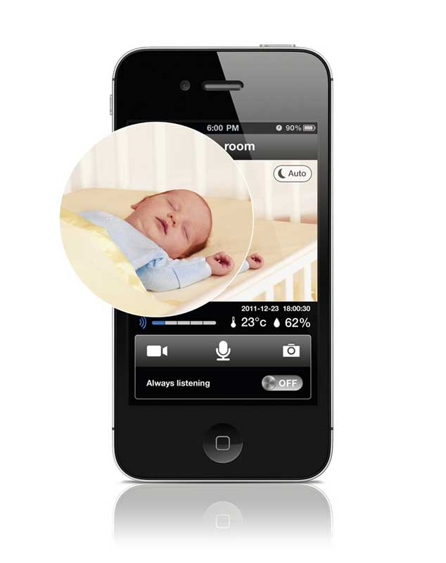 baby monitor iphone philips b120e 37 insight wireless hd baby 3511