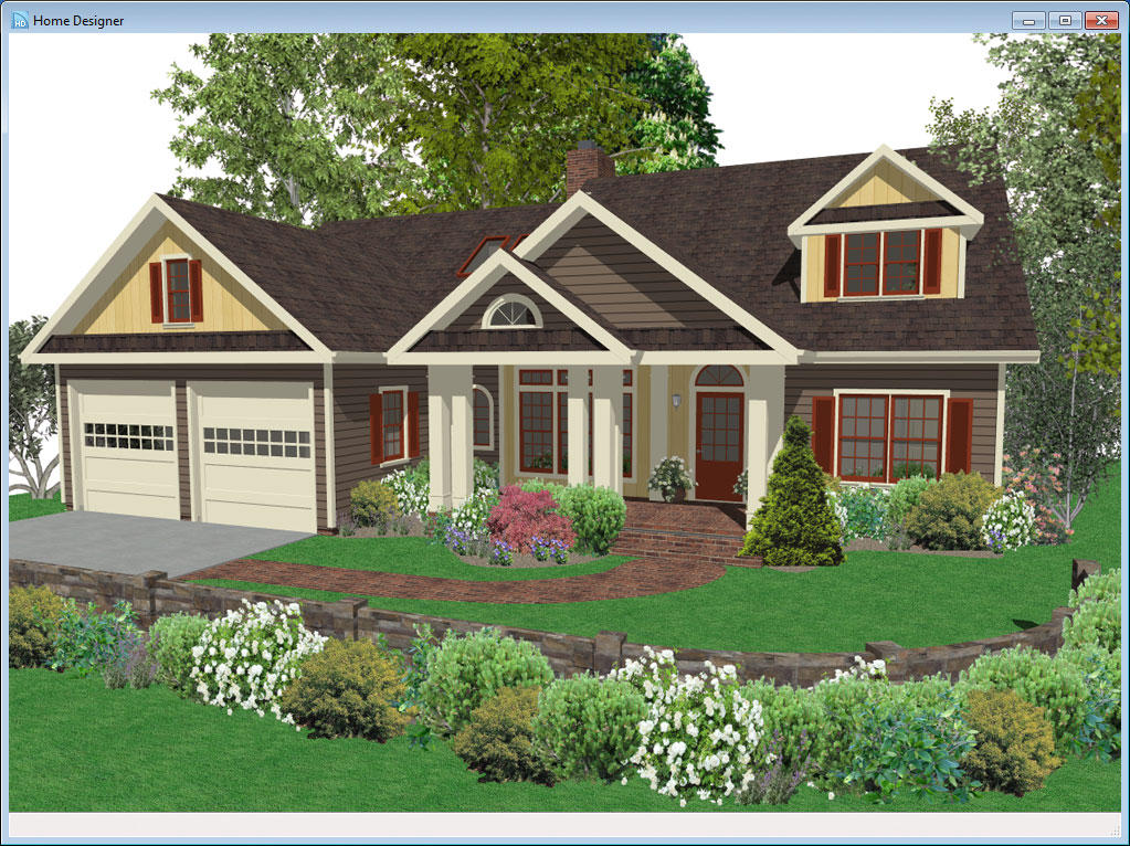 Home designer essentials 2014 download software for Exterior home design program