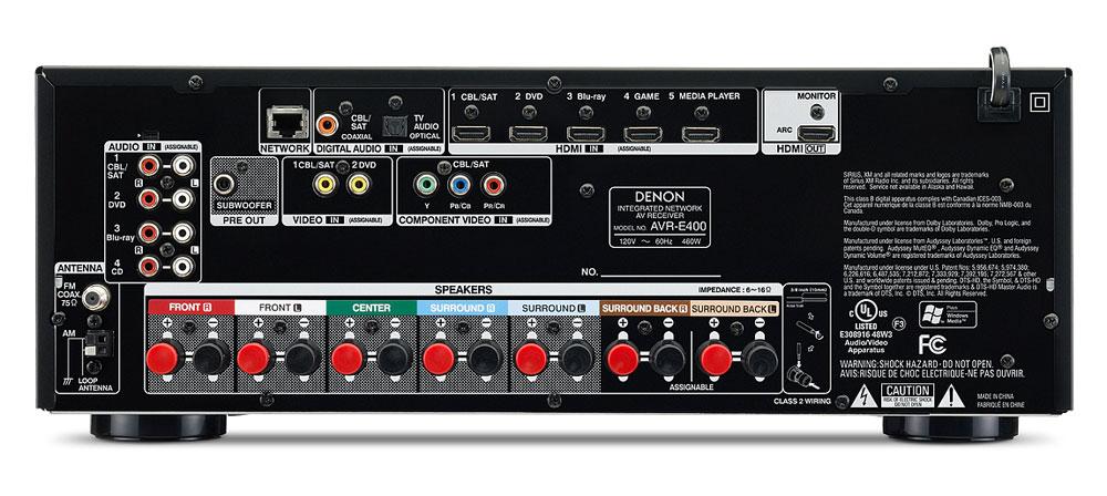 Amazon Com Denon Avr E400 7 1 Integrated Network Av