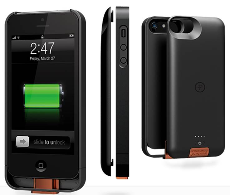100% authentic 6fc1a f70ac Duracell Powermat PowerSnap Kit - Wireless Charging Case and Backup Battery  for iPhone 5 (Black)