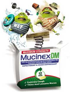 Maximum Strength Mucinex DM - (1200mg Guaifenesin, 60 mg Dextromethorphan HBr) 14 ct. Product Shot