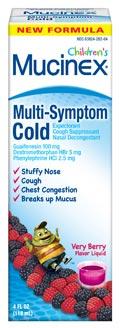Children's Mucinex Multi-Symptom Cold Liquid, Very Berry (6.8 Ounces)