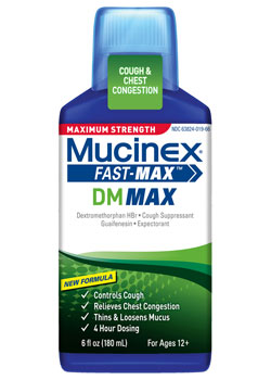 Maximum Strength Mucinex Fast-Max DM Max Liquid (6 Ounces)
