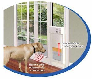 ... received by the microphone only when your pet is directly facing the door opening. The unit is not likely to trigger if your pet is just wandering by.  sc 1 st  Amazon.com & Amazon.com : High Tech Pet - Large Power Pet Sliding Glass Door ... pezcame.com