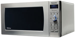 B000ON6HMS main t  Panasonic NN SD797S Genius Prestige 1.6 cuft 1250 Watt Sensor Microwave with Inverter Technology & Blue Readout, Stainless Steel