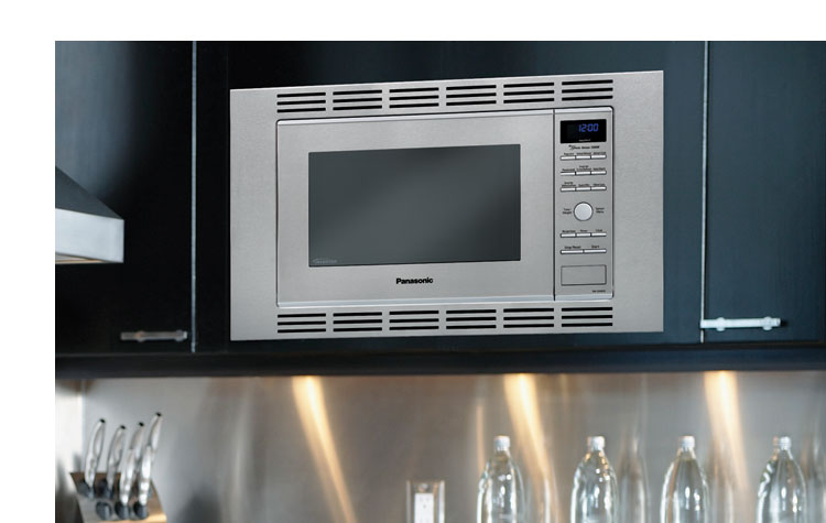 Panasonic nn sn773saz stainless 1 6 cu ft for Microwave ovens built in with trim kit
