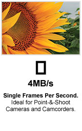 4 MB/s Single Frames per Second
