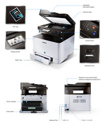 Samsung Xpress C1860FW Multifunction Color Printer Product Shot