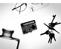 Samsung EVO 64GB microSD Memory Card with USB Reader Product Shot